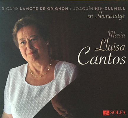 CD Cover - newest Release Maria Luisa Cantos