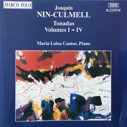 CD Cover J. Nin-Culmell, Tonadas