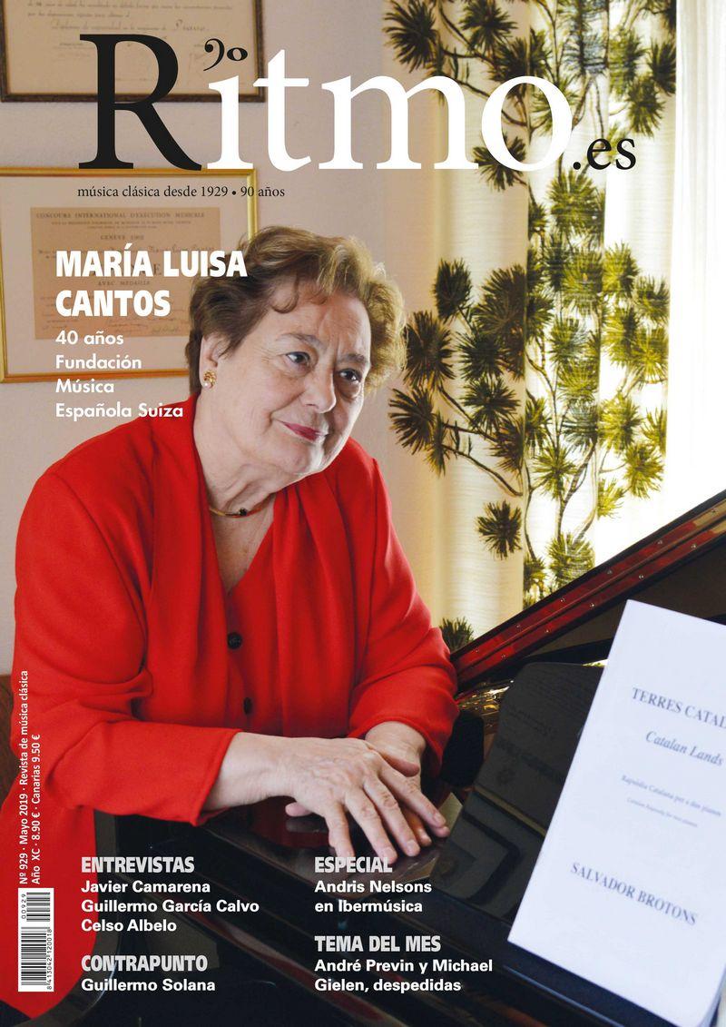 Portada Maria Luisa Cantos, Ritmo, Nr. 292, Mayo 2019